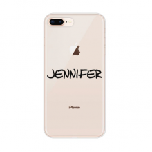 Special Handwriting English Name JENNIFER Apple iPhone 7/8 Plus Phone Case Flexible Soft Slim Transparent Cover