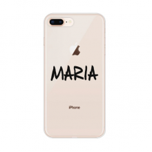 Special Handwriting English Name MARIA for Apple iPhone 7/8 Plus Phone Case Flexible Soft Slim Transparent Cover