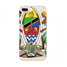 Tanzania Africa National Emblem for Apple iPhone 7/8 Plus Phone Case Flexible Soft Slim Transparent Cover