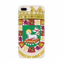 Puerto Rico National Emblem Apple iPhone 7/8 Plus Phone Case Flexible Soft Slim Transparent Cover