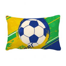 Brazil Soccer Football Sports Throw Lumbar Pillow Insert Cushion Cover Home Sofa Decor Gift
