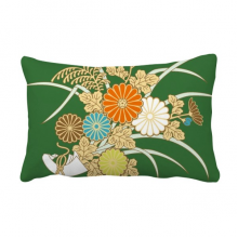 Autumn Japanese Yellow Flower Throw Lumbar Pillow Insert Cushion Cover Home Sofa Decor Gift