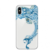Blue Ocean Dolphin Illustrate Apple iPhone X Phone Case Flexible TPU Soft Slim Transparent Cover Gift