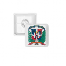 Dominican Republic National Emblem Country PBT Keycaps for Mechanical Keyboard White OEM No Marking Print