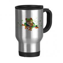 Polypedatid Green Frogs Stainless Steel Travel Mug Beer Mugs With Handles 13oz Gift