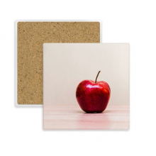 Fresh Apple Temperate Fruit Picture Square Coaster Cup Mug Holder Absorbent Stone for Drinks 2pcs Gift