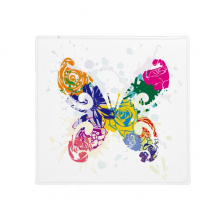 Colourful Butterfly with Floral Pattern Graffiti Anti-slip Floor Pet Mat Square Bathroom Living Room Kitchen Door 60/50cm Gift