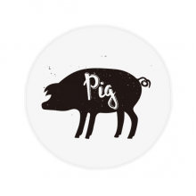 Pig Black And White Animal Anti-slip Floor Pet Mat Round Bathroom Living Room Kitchen Door 60/50cm Gift