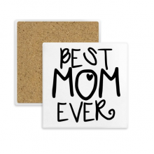 Best Mom Ever Words Mother's Day Square Coaster Cup Mug Holder Absorbent Stone for Drinks 2pcs Gift