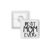 Best Mom Ever Words Mother's Day PBT Keycaps for Mechanical Keyboard White OEM No Marking Print