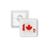 Red Maple Leaf Symbol Canada Country Flag PBT Keycaps for Mechanical Keyboard White OEM No Marking Print