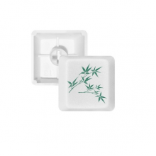 Painting Green Culture Bamboo PBT Keycaps for Mechanical Keyboard White OEM No Marking Print