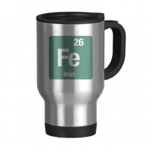 Iron Fe Chemical Element Science Stainless Steel Travel Mug Beer Mugs With Handles 13oz Gift
