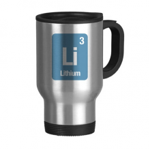 Li Lithium Chemical Element Science Stainless Steel Travel Mug Beer Mugs With Handles 13oz Gift