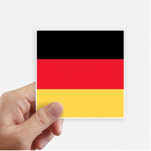 Germany National Flag Europe Country Square Stickers 10cm Wall Suitcase Laptop Motobike Decal 8pcs