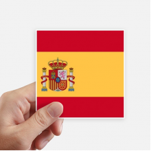 Spain National Flag Europe Country Square Stickers 10cm Wall Suitcase Laptop Motobike Decal 8pcs