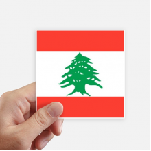 Lebanon National Flag Asia Country Sticker Square Waterproof Stickers Wallpaper Car Decal