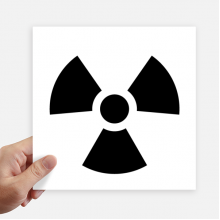 Dangerous Chemical Toxic Radiation Pattern Sticker Tags Wall Picture Laptop Decal Self adhesive