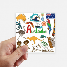 Australia Landscape Animals National Flag Sticker Square Waterproof Stickers Wallpaper Car Decal