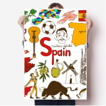 Spain Landscap Animals National Flag Sticker Poster Decal 31x22