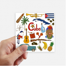 Cuba Landscap Animals National Flag Sticker Square Waterproof Stickers Wallpaper Car Decal