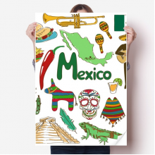 Mexico Landscap Animals National Flag Sticker Poster Decal 31x22
