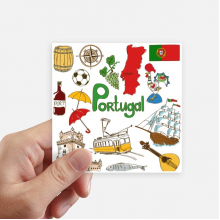 Portugal Landscap Animals National Flag Sticker Square Waterproof Stickers Wallpaper Car Decal