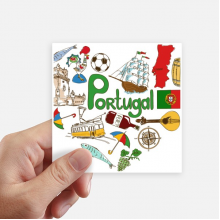 Portugal Love Heart Landscap National Flag Sticker Square Waterproof Stickers Wallpaper Car Decal