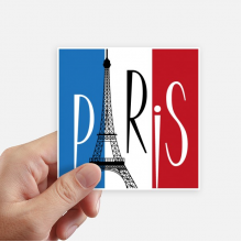 National Flag France Eiffel Tower Paris Sticker Square Waterproof Stickers Wallpaper Car Decal