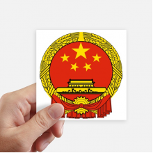 China National Emblem Country Sticker Square Waterproof Stickers Wallpaper Car Decal