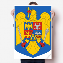 Romania National Emblem Country Sticker Poster Decal 31x22