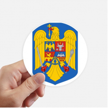 Romania National Emblem Country Sticker Round Wall Suitcase Laptop Label Bumper