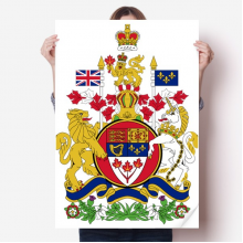 Canada National Emblem Country Sticker Poster Decal 31x22