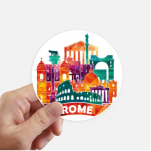 Italy Rome Landscape Customs Landmark Round Stickers 10cm Wall Suitcase Laptop Motobike Decal 8pcs