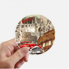 Italy Rome Landscape National Pattern Sticker Round Wall Suitcase Laptop Label Bumper