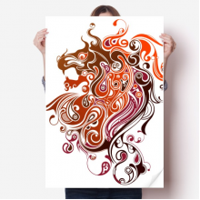 Colorful Dragon Animal Art Silhouette Sticker Poster Decal 31x22