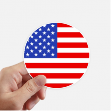 USA National Flag North American Symbol Sticker Round Wall Suitcase Laptop Label Bumper