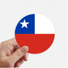 Chile National Flag South American Symbol Sticker Round Wall Suitcase Laptop Label Bumper
