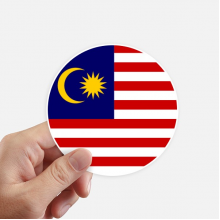 Malaysia National Flag Asian Symbol Sticker Round Wall Suitcase Laptop Label Bumper