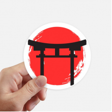 Shinto Shrine Japan Torii Round Stickers 10cm Wall Suitcase Laptop Motobike Decal 8pcs