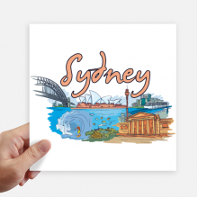 Australia City Sydney Opera Watercolor Sticker Tags Wall Picture Laptop Decal Self adhesive