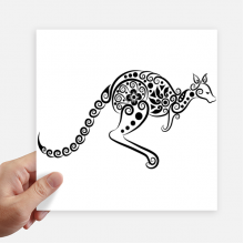 Australia Flavor Kangaroo Skeleton Illustration Sticker Tags Wall Picture Laptop Decal Self adhesive