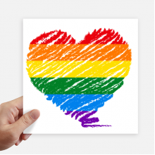 Rainbow Gay Lesbian Heart LGBT Sticker Tags Wall Picture Laptop Decal Self adhesive