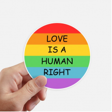 Gay Lesbian Rainbow Flag LGBT Round Stickers 10cm Wall Suitcase Laptop Motobike Decal 8pcs