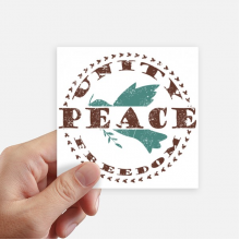 Olive Branch Peace Freedom Symbol Square Stickers 10cm Wall Suitcase Laptop Motobike Decal 8pcs