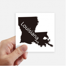 Louisiana America USA Map Silhouette Square Stickers 10cm Wall Suitcase Laptop Motobike Decal 8pcs