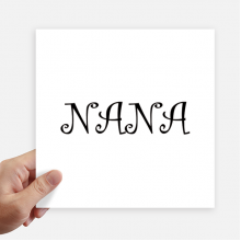 Grandma Letters Nana Present Pattern Sticker Tags Wall Picture Laptop Decal Self adhesive