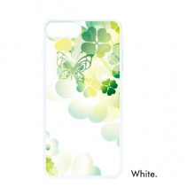 Butterfly Four Leaf Clover St.Patrick's Day For iPhone SE 2 new for Apple 78 Case Cover White