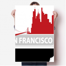 San Francisco America Country City Silhouette Sticker Poster Decal 31x22