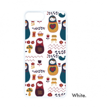 Russia Dolls Flower Poster Russian Matryoshka For iPhone 7/8 Plus Cases White Phonecase Apple Cover Case Gift